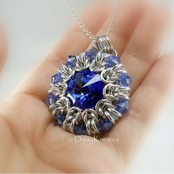 Large size pendant with plenty presence as statement necklace