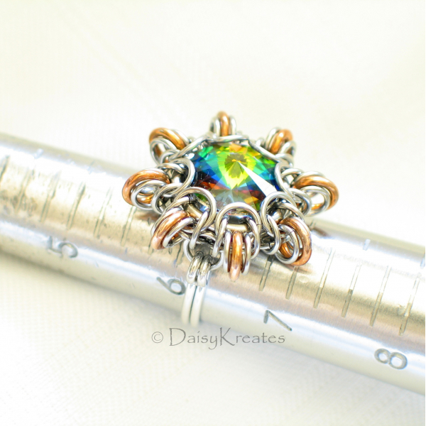 Byzantine Sun finger ring can be customized to fit your size upon request
