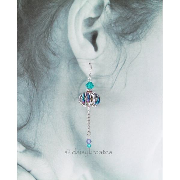 Genie Bottle earrings with easygoing colors and size perfect for all occasions
