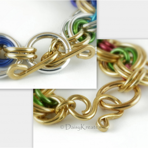 Clasp options offered, both handmade in DaisyKreates' original design
