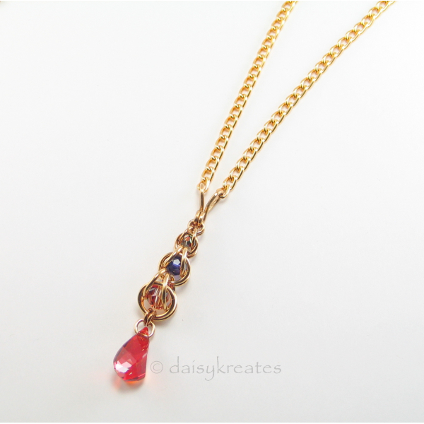 Golden Harvest Long Y Necklace in casual elegant style