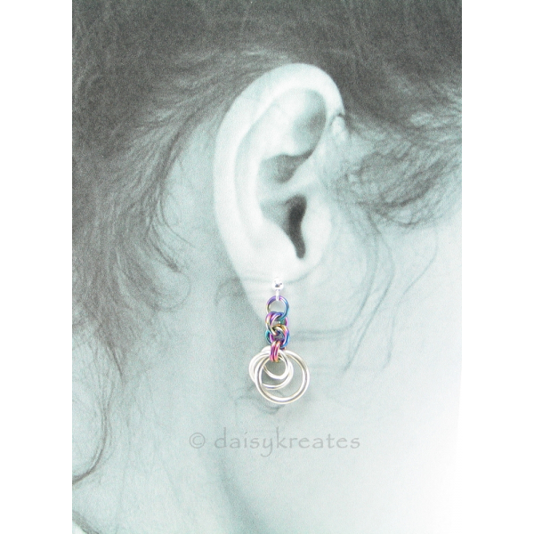 Also available with 925 sterling silver ear posts