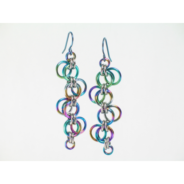 Niobium Forget-Me-Not Earrings - Long version