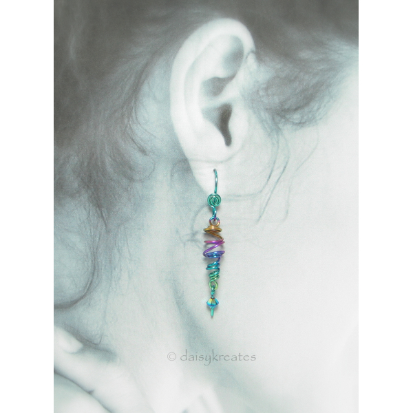 Each earring is hand formed individually, no two are exactly alike