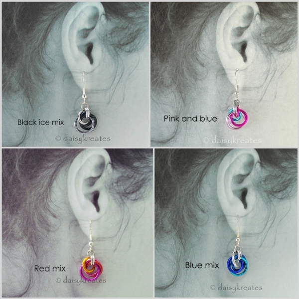 Color options for Petite Tea Rose Earrings