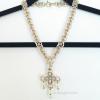 Ghenghiz Cohen necklace B2+1 Maltese cross focal