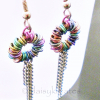 Multi-Color Anodized Niobium Coiled Rainbow Earrings