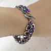 The Japanese Lace bracelet's low profile wears comfortably on wrist