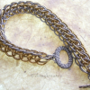 Layered Half Persian bracelet closes with comfortable toggle clasp