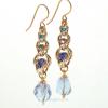 Multicolor Golden Harvest Earrings in Graduated 3-Tier Style