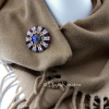 Helios Sunburst scarf pin with Swarovski Volcano crystals