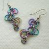 Multi-Color Niobium Forget-Me-Not Earrings