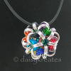 """Japanese Dodecahedron Necklace on 24"""" rubber cord"""