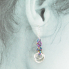 Lovely Tea Rose earrings perfectly complement your styles, formal or casual