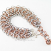 Silver and bronze tones show off lacy texture of Elf Sheet bracelet