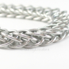 Classic and Bold Half Persian Chainmaille Bracelet in Bright Aluminum