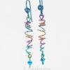 Rainbow Sprite Multi-Color Freeform Coil Earrings in Hypoallergenic Niobium