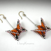 Monarch Butterfly earrings flutter lively on long wire for extra movement