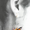 Each Monarch butterfly earring can swivel for front or back side view