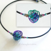 Three-Color Danish Knot Choker Necklace in Anodized Niobium