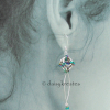 The earrings sit close to the ear lopes, are comfortable for long wear