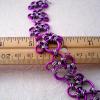 Purple Paw Prints Chainmaille Bracelet