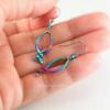 Rainbow Fish Earrings in Multi Color Anodized Niobium
