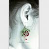 "Rudolf's PawPrints earrings measures 1"" wide, bit over 1.5"" long"
