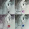 Color options for Petite Tea Rose Earrings