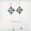 Lovely sterling silver Nox earrings with rainbow hightlights