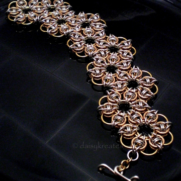 Celtic Rose Hex Sheet Bracelet with zigzag design
