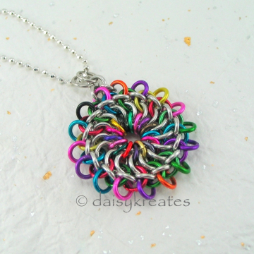 Colorful Mandala Pendant is bright and cheerful, lovely and charming!