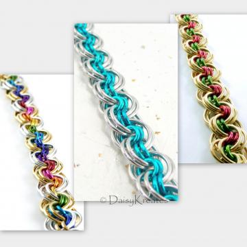 Ghenghiz Cohen chainmaille bracelet samples