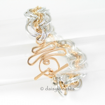 Ghenghiz Cohen chainmaille bracelet with Moon Rise Toggle