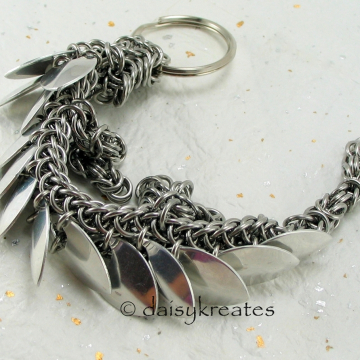 Dragon made with shiny bright aluminum scales