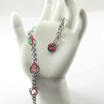 Lovely Poinsettia Bracelet drapes softly and gracefuly