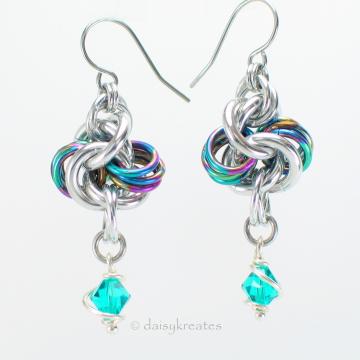 Rainbow Hugs and Silver Kisses Earrings