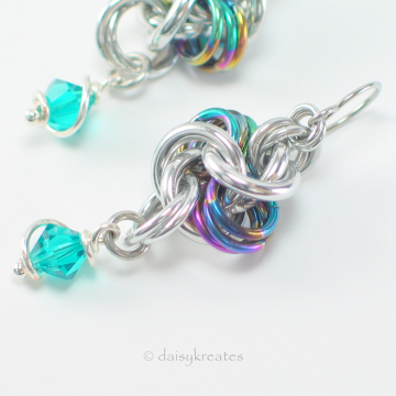 Rainbow Hugs and Silver Kisses Earrings