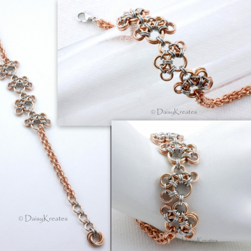 Bronze Four-Paws Chainmaille Bracelet