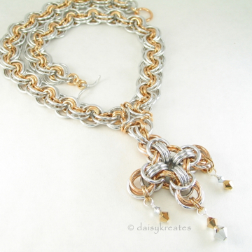 Ghenghiz Cohen Necklace with Maltese Cross Focal