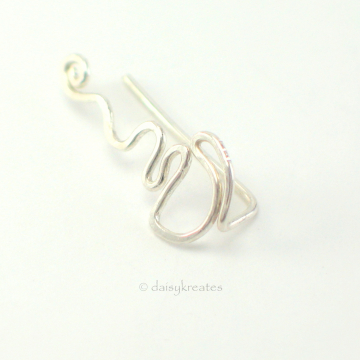 Sterling Silver Coffee Cup Ear Climber