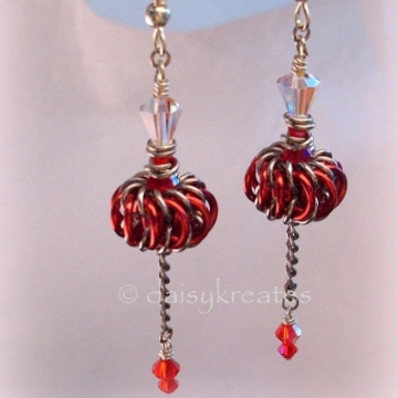 Genie Bottles Earrings with Long Dangles