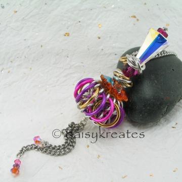Genie Bottle Necklace in Golden Mulberry