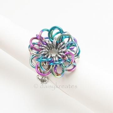 Forget-Me-Not Flower Finger Ring