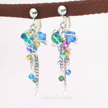 Midsummer Night's Crystals Earrings