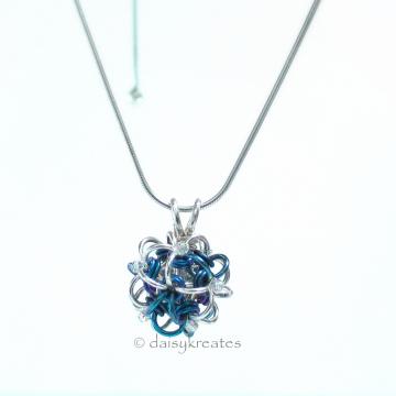 Petite Blue Hydrangea Pendant