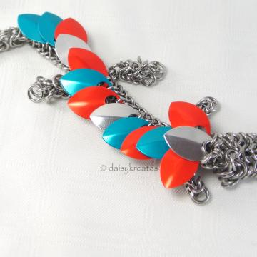 Kambrie's Fabulous Aqua and Orange Pet Dragon