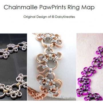 Chainmaille PawPrints Ring Map