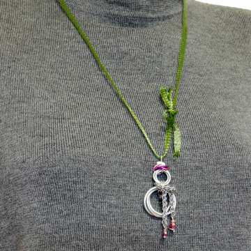 Mobius Snowman Pendant with JPL scarf
