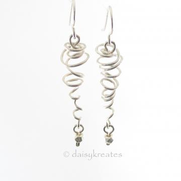Sterling Silver Sprite Earrings